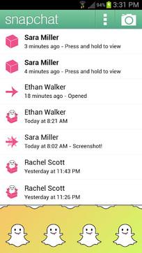 Snapchat快拍