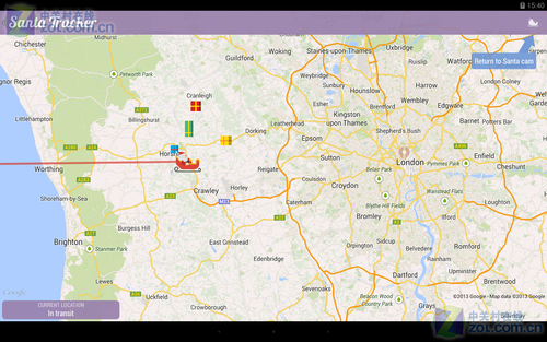 Google追踪圣诞老人