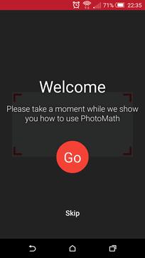 PhotoMath摄像计算器