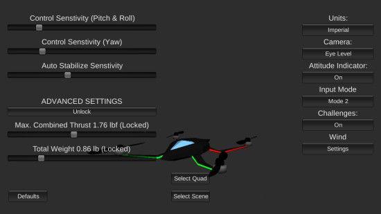 四旋翼飞行模拟1.75
