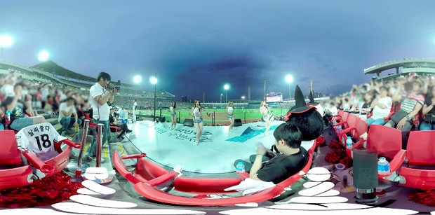 韩国女团棒球场热舞VR视频